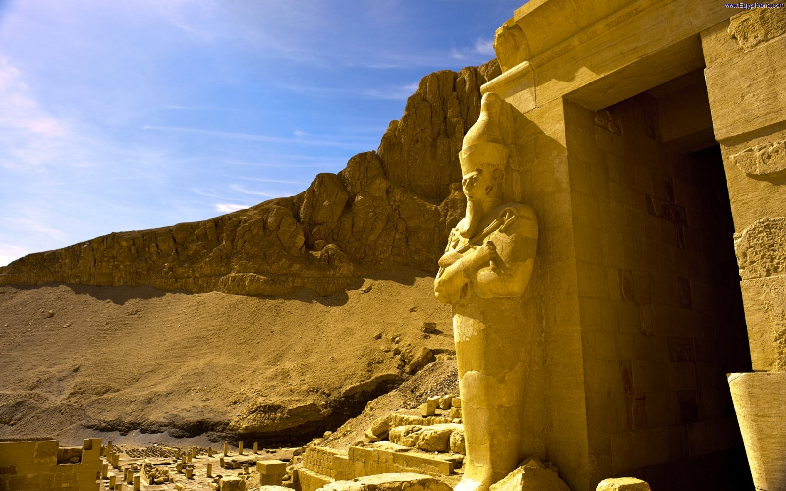 Osirian statue at Mortuary Temple of Queen Hatshepsut