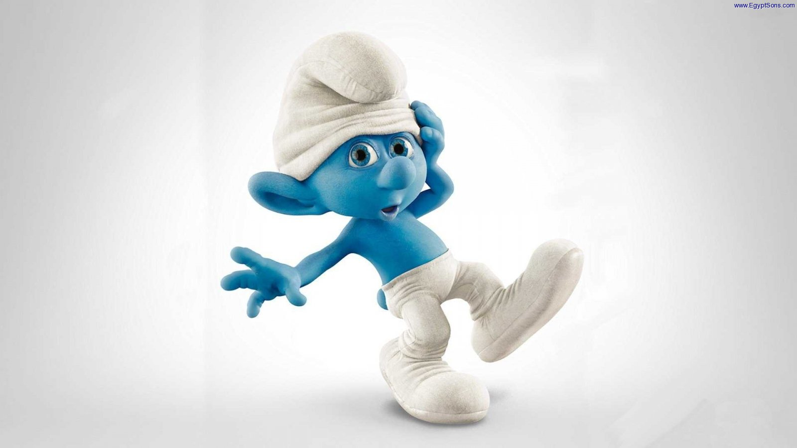 Clumsy Smurf Widescreen Wallpaper