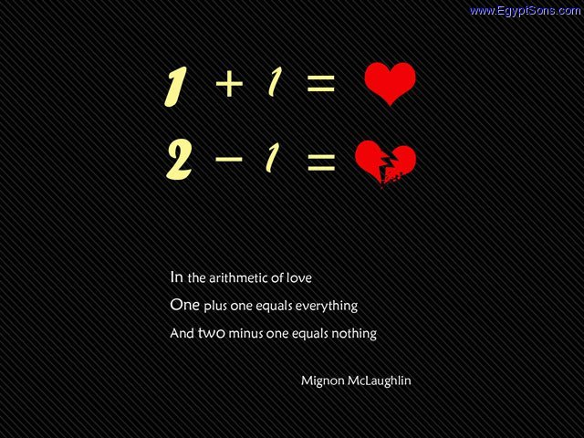 The arithmetic of love